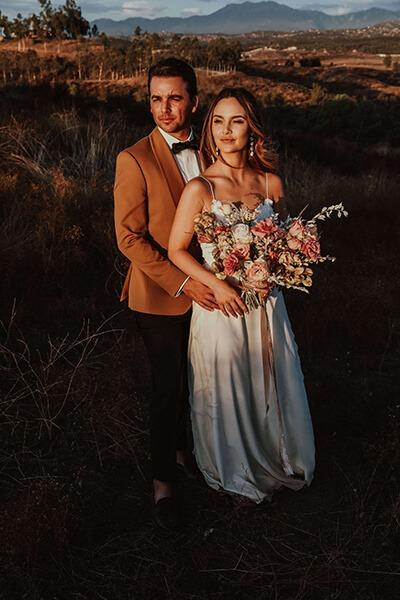 Brautpaar in Amerika
